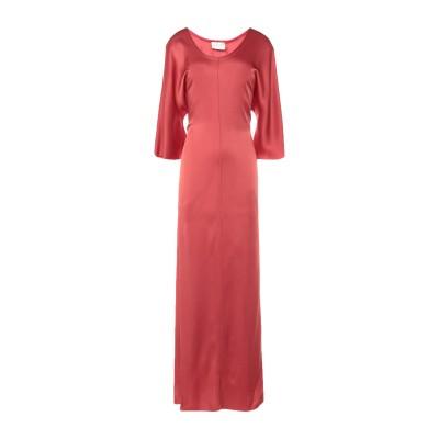 フォルテ フォルテ FORTE_FORTE ロングワンピース&ドレス 赤茶色 0 アセテート 70% / レーヨン 30% ロングワンピース&ドレス