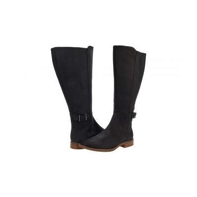 Clarks クラークス レディース 女性用 シューズ 靴 ブーツ ロングブーツ Camzin Branch Wide Calf - Black Leather
