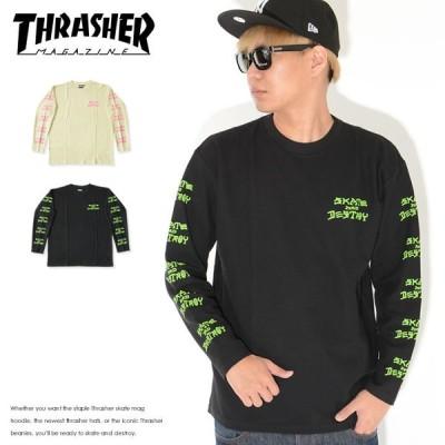 THRASHER スラッシャー ロンT 長袖 サーマル SKATE AND DESTROY (THSFLT200) セール