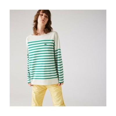LACOSTE / ラコステ ワイドシルエットパネルボーダーTシャツ