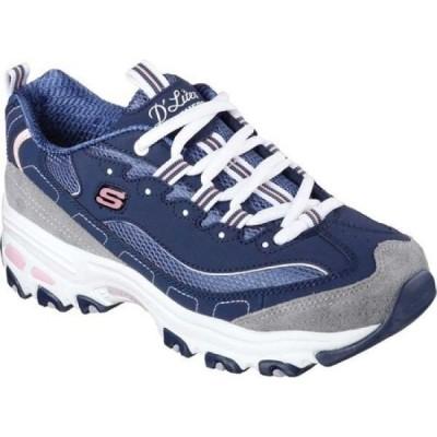 スケッチャーズ Skechers レディース スニーカー シューズ・靴 D'Lites New Journey Sneaker Navy/Gray