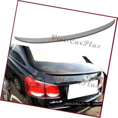 エアロパーツ ピックカラー06-11レクサスGS350 GS450 GS460 4Dr OEタイプトランクブーツスポイラーリップウイング Pick C