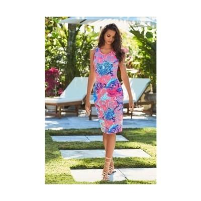 ワンピース リリーピュリッツァー Lilly Pulitzer Jordyn Midi Dress I'm So Jelly Coral Reef TASSELS S L