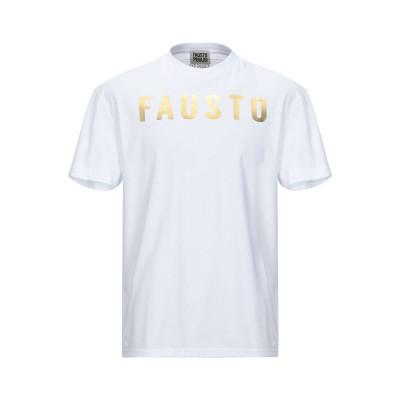 ファウスト プリージ FAUSTO PUGLISI T シャツ ホワイト XS コットン 100% / ポリウレタン T シャツ