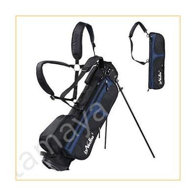 LONGCHAO ゴルフバッグ メンズ - ブラックホワイトスタンドゴルフバッグ 軽量 4ウェイトップ - 取り外し可