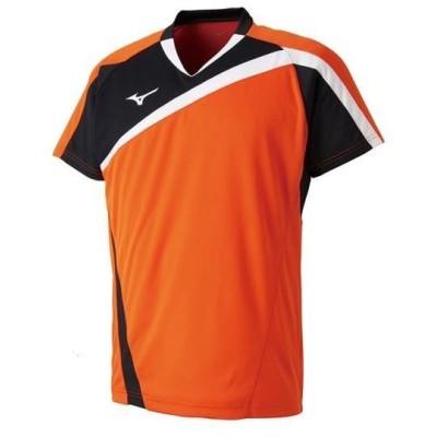5-T ミズノ ゲームシャツ(ラケットスポーツ)[ユニセックス] 53&nbspフレイムオレンジ(72ma800553)