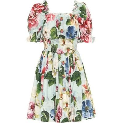 ドルチェ&ガッバーナ Dolce & Gabbana レディース ワンピース ワンピース・ドレス Floral cotton minidress Fiori Ombre F Azzurro
