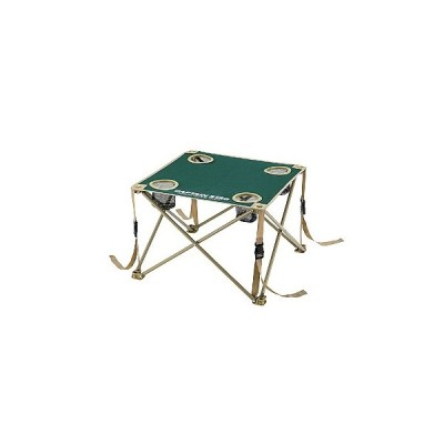 アウトドアテーブル キャプテンスタッグ CS コンパクトテーブル ドリンクホルダー付き 折りたたみ収納可 グリーン