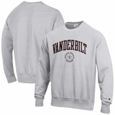 Champion チャンピオン スポーツ用品  Champion Vanderbilt Commodores Gray Reverse Weave Sweatshirt
