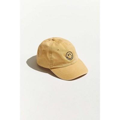 アーバンアウトフィッターズ Urban Outfitters メンズ キャップ ベースボールキャップ 帽子 smile embroidered washed baseball hat Yellow