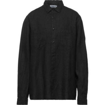 ストーンアイランド STONE ISLAND メンズ シャツ トップス Linen Shirt Black