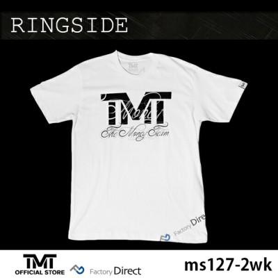 tmt-ms127-2wk ザ・マネーチーム Tシャツ RINGSIDE 白ベース×黒ロゴ フロイド・メイウェザー ボクシング メンズ ホワイト プリント アメリカ THE MONEY TEAM TMT WBC WBA( スポーツ スポーツtシャツ 半袖tシャツ グッズ boxing )( ×エス)