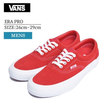 VANS MENS バンズ ヴァンズ メンズ VN000VFBAJL ERA PRO SUEDE RED WHT エラプロ メンズ スニーカー 靴
