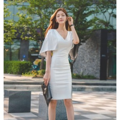ホワイトドレス マント ワンピース ドレス パーティ リゾート 二次会 きれいめ 20代 30代40代 大きい お呼ばれ キャバワンピ