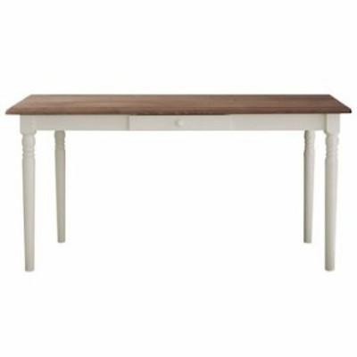 関家具 ■【mam】 ダイニングテーブル フィンネル ホワイト/カフェ 140cm【大型商品(設置工事可)】 138739