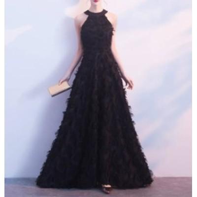 ロングドレス パーティードレス ホルターネック セクシー 大きいサイズ エレガント お呼ばれ 結婚式 二次会 披露宴 演奏会 発表会 韓国