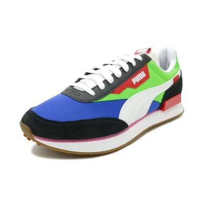 スニーカー プーマ PUMA フューチャーライダープレイオン ブラック/グリーン/ブルー 371149-01 メンズ シューズ 靴 20SS