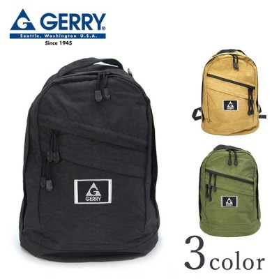 GERRY ジェリー 斜めファスナーバックパック R443 Y-0394 ベージュ カーキ ブラック リュック メンズ レディース ロゴ カジュアル