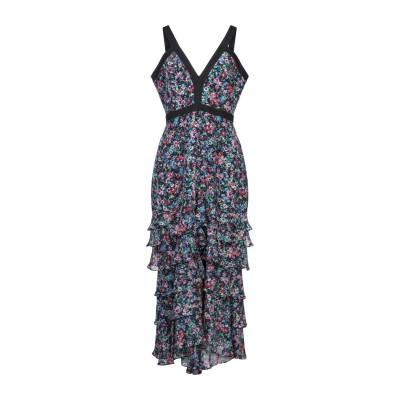 サローニ SALONI ロングワンピース&ドレス ブラック 4 シルク 100% / ポリエステル ロングワンピース&ドレス