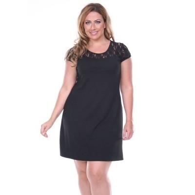 ホワイトマーク ワンピース トップス レディース Women's Plus Size Pelagia Dress Black