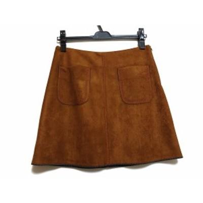 デビーデボ DEBYDEBO スカート サイズXS レディース 美品 ブラウン【中古】20201226