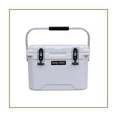 CAMP-ZERO 20L   21.13 Quart Premium Cooler/Ice Chest with 4 Molded-in Cup Holders   White並行輸入品
