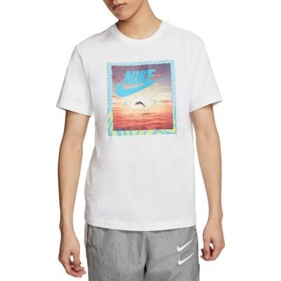 ナイキ Nike メンズ Tシャツ トップス Sportswear Aqua Photo Short Sleeve T-Shirt White