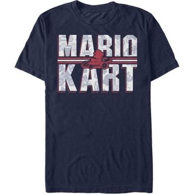 任天堂 Nintendo メンズ Tシャツ トップス Mario Kart Shadowed Logo Short Sleeve T-Shirt Navy