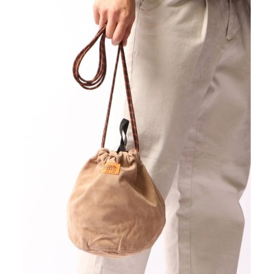 FUNALIVE / 【UNIVERSALOVERALL】Fスエード巾着ポーチ MEN 財布/小物 > ポーチ