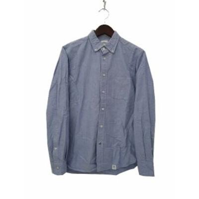 【中古】ベドウィン アンド ザ ハートブレイカーズ シャツ NO.1 ブルー 長袖 無地 BD オックスフォード 美品 メンズ