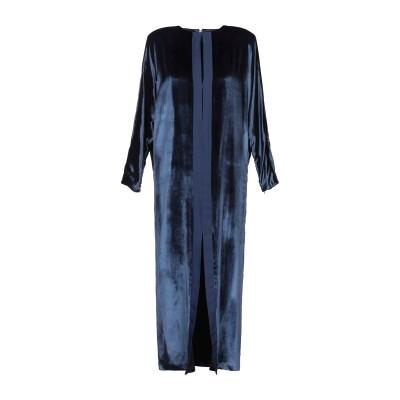 CARMEN MARCH ロングワンピース&ドレス ダークブルー 36 レーヨン 82% / シルク 18% ロングワンピース&ドレス