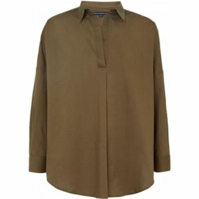 フレンチコネクション French Connection レディース ブラウス・シャツ オーバーシャツ トップス Rhodes Poplin Pop Over Shirt Green