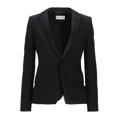 SAINT LAURENT テーラードジャケット ブラック 46 バージンウール 100% / ポリエステル テーラードジャケット