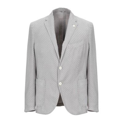 FRADI テーラードジャケット ライトグレー 50 コットン 75% / 麻 25% テーラードジャケット