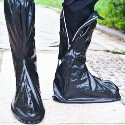 靴カバー 頑丈 レイン ロング シューズカバー 防水 男女兼用 レディース メンズ 男性 女性 ファスナー 滑り止め 雨 災害 スリップ防止 通勤 通