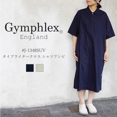 Gymphlex ジムフレックス #J-1348SUV 120/2 SUVIN TYPEWRITER CLOTH タイプライタークロス シャツワンピ レディース〔SK〕