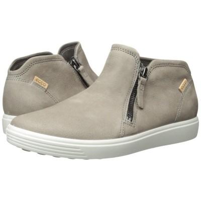 エコー ECCO レディース スニーカー シューズ・靴 Soft 7 Low Cut Zip Bootie Warm Grey/Powder