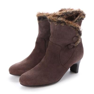 シューズラウンジ shoes lounge ショートブーツ 705154DBR (ダークブラウン)