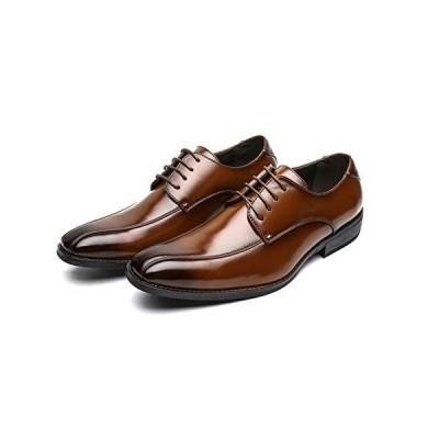 TOKYO BROTHER 東京ブラザー メンズ ビジネスシューズ 紳士靴 ドレスシューズ 防滑 撥水加工 1251 (27.5, ブラウン