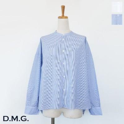 D.M.G (ドミンゴ) スタンド ワイド シャツ 100/2ブロード コットン 長袖 16-0570X / 16-0571X