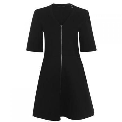 アルマーニ Armani Exchange レディース ワンピース ワンピース・ドレス Zip Detail Dress Black