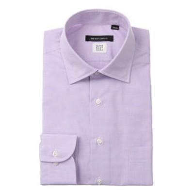【SUPER EASY CARE・再生繊維】ワイドカラードレスシャツ〔EC・BASIC〕