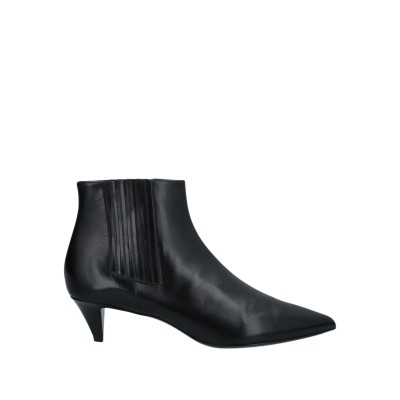 セリーヌ CELINE ショートブーツ ブラック 37 牛革(カーフ) ショートブーツ