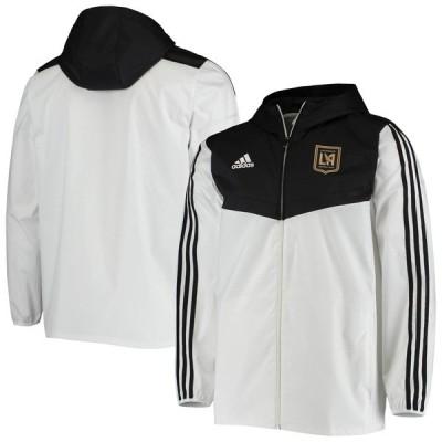 アディダス ジャケット&ブルゾン アウター メンズ LAFC adidas Tiro Full Zip Windbreaker Jacket  White