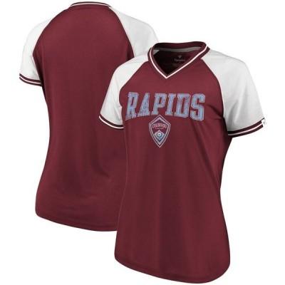 ファナティクス ブランデッド レディース Tシャツ トップス Colorado Rapids Fanatics Branded Women's V-Neck T-Shirt