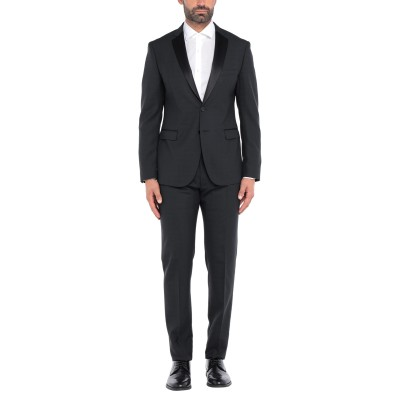 トネッロ TONELLO スーツ ブラック 52 バージンウール 100% スーツ