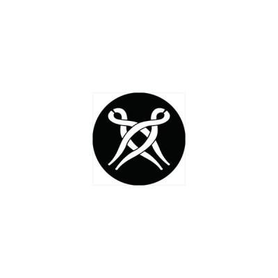 家紋シール 違い釘抜き紋 直径4cm 丸型 白紋 4枚セット KS44M-0049W