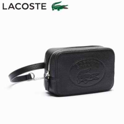 LACOSTE ラコステ バッグ レザー ポーチ ウエストポーチ レディース CROCO CREW フルグレイン ウエストバッ