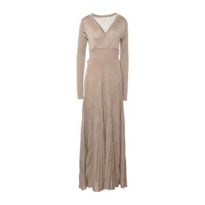CARE OF YOU ロングワンピース&ドレス キャメル S/M レーヨン 83% / ウール 10% / 金属繊維 7% ロングワンピース&ドレス