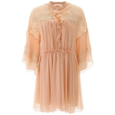 CHLOE/クロエ シルクドレス MAPLE PINK Chloe embroidered silk dress レディース 春夏2020 CHC20SRO38006 ik